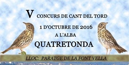 V Concurs de Cant del Tord – Quatretonda