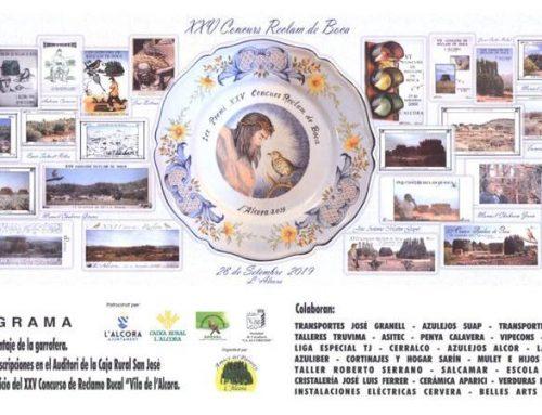 XXV CONCURS RECLAM DE BOCA – L'ALCORA 2019