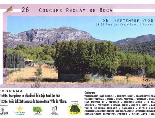26º Concurs Reclam de Boca – L'Alcora 2020