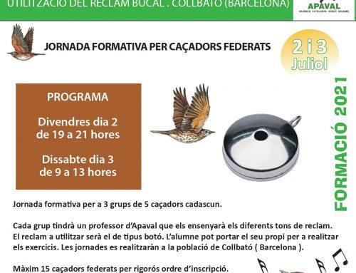 JORNADA FORMATIVA PER CAÇADORS FEDERATS